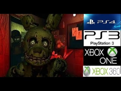 Five Nights at Freddy's 3 confirmado PS3-PS4-Xbox 360-Xbox ONE)