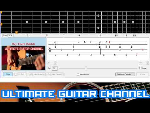 Guitar Solo Tab Hey There Delilah Plain White T Youtube