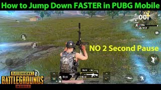 How to Jump Down FASTER like a PRO in PUBG Mobile | DerekG Tutorial