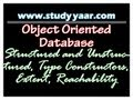 Object Oriented Database - Structured and Unstructured, Type Constructors, Extent, Reachability