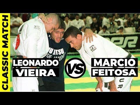 OLD SCHOOL BJJ MATCH: Leo Vieira vs Marcio Feitosa Jiu Jitsu Match IBJJF Worlds Finals 1998