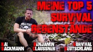 Meine Top 5 Survival Gegenstände Items   Kai Sackmann Sacki, Benjamin Claussner Survival Deutschland