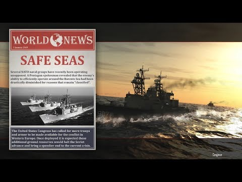 Cold Waters Gameplay 1968 - mission 3 - Tankers and Tenders in Barents Sea