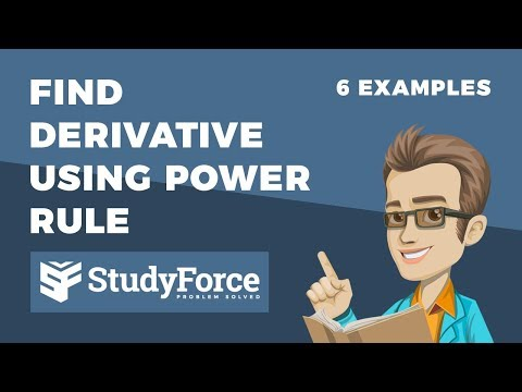 📚 How to find derivative using the power rule