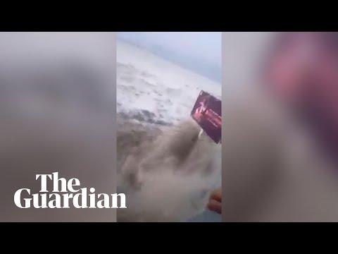 Massive Wave Hits Palu In Indonesia