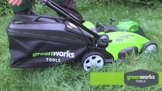 Обзор Аккумуляторная газонокосилка GREENWORKS G40LM40