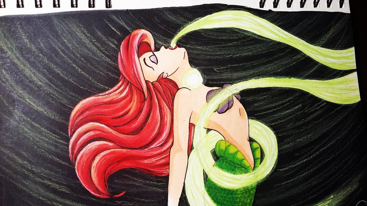 The Little Mermaid Ariel 39 s Voice Drawing and Coloring