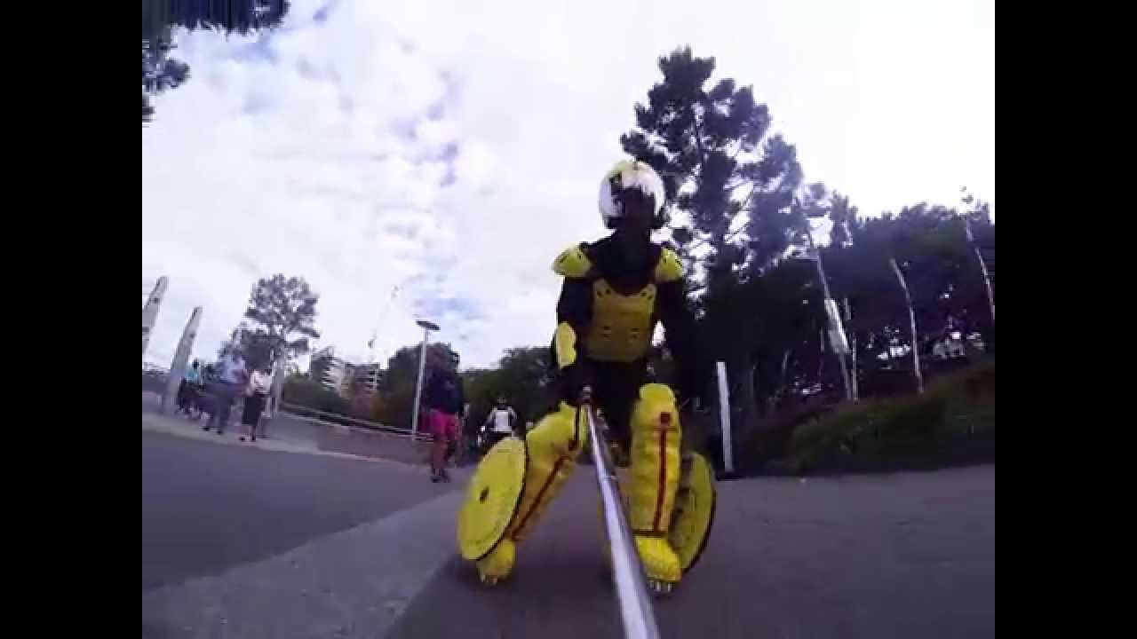 Real Live Big Hero 6 Gogo Cosplay Skating 02 Youtube