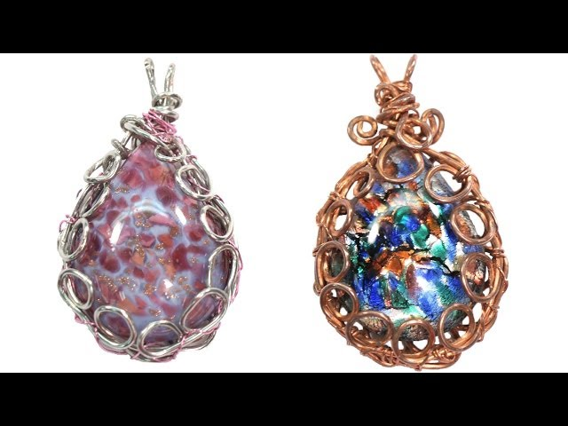 Easy wire wrapped bezel pendant tutorial mozeypictures Choice Image