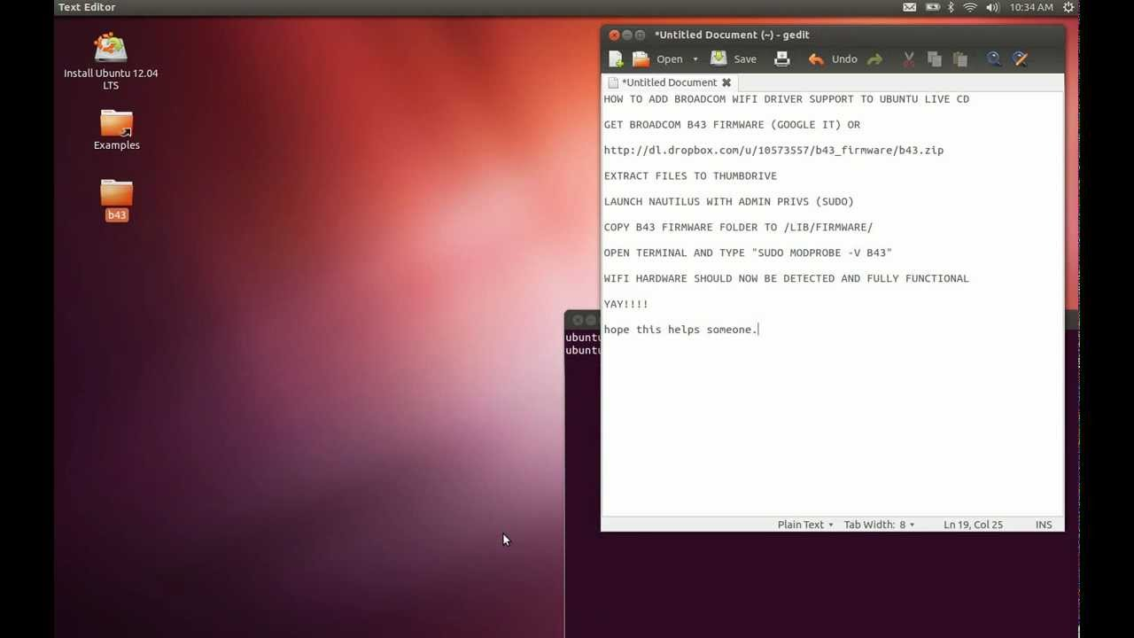 Broadcom Wifi Drivers in Ubuntu 12 04 Live