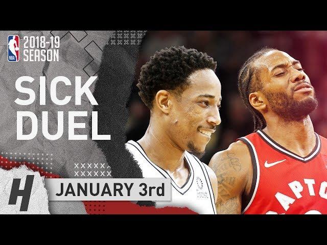 Kawhi Leonard vs DeMar DeRozan EPIC DUEL Highlights Raptors vs Spurs 2019.01.03 - 21 Pts Each!