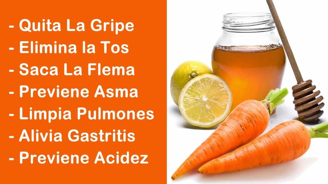 Resultado de imagen para Zanahoria, limón y miel, quita la gripe, la tos y limpia tus pulmones de la flema, prepáralo de esta forma