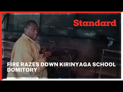 Fire razes down dormitory housing 86 students in Karia secondory school in Kirinyaga