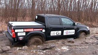 Toyota HiLux - Offroad спасаем трактор!(Почта для связи: atdrive.ru@gmail.com Небольшая история о том как тащил Хайлюкс несчастного субаря из болота :) Наш..., 2014-11-04T19:03:38.000Z)