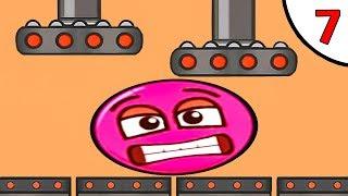 Несносный КРАСНЫЙ ШАРИК против чёрного квадрата и злого шара #7. Игра Red Pink Ball Игрули TV
