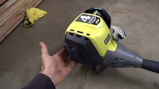 Blade & Ryobi S430 4 cycle trimmer destroying weeds.