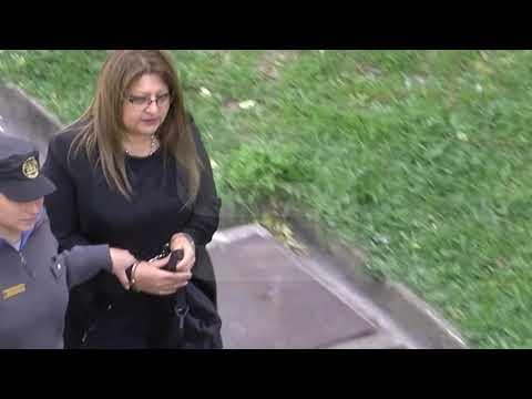 La salida de Bordeira y el resto de las mujeres del primer día de juicio
