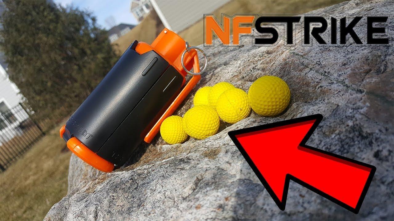 Exploding Nerf Rival Grenade Launcher! - YouTube