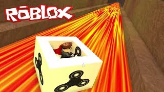 FALLING TO 9.999.999 KM IN MY ROBLOX SPINNER BOX!!