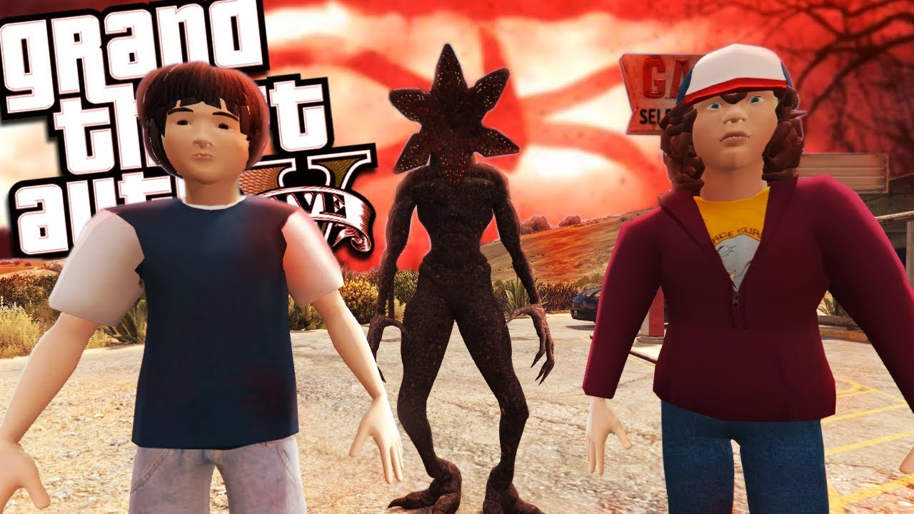 The Stranger Things MOD w/ Mike, Dustin & Demogorgon (GTA 5 PC Mods  Gameplay)
