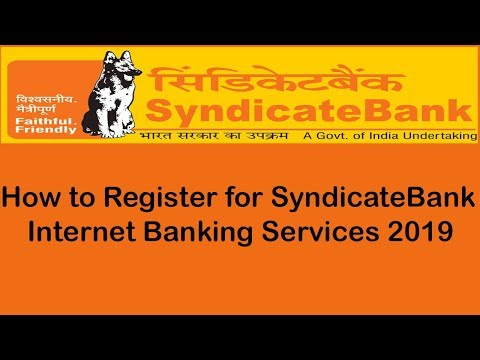 How To Open Syndicate Bank Internet Banking 2019