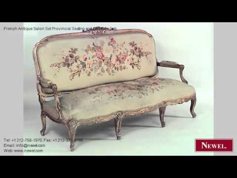 French Antique Salon Set Provincial Seating and Chairs