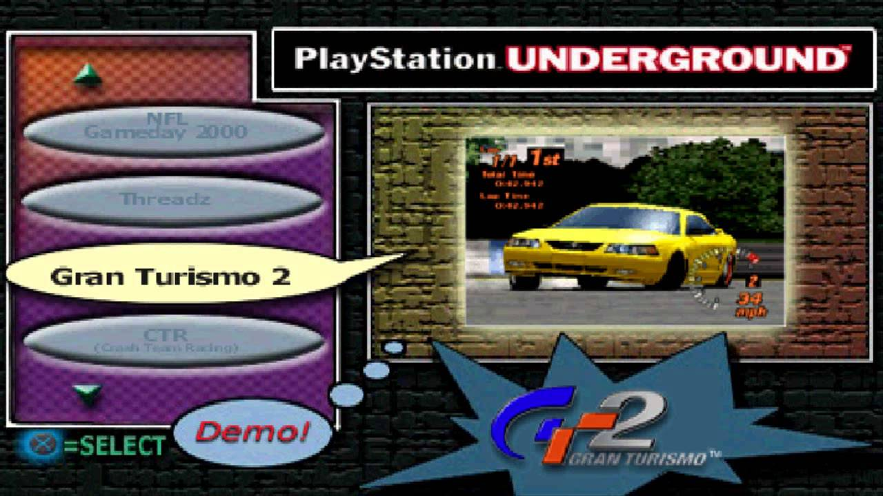 PlayStation Underground Demo Disc - Shock your system!