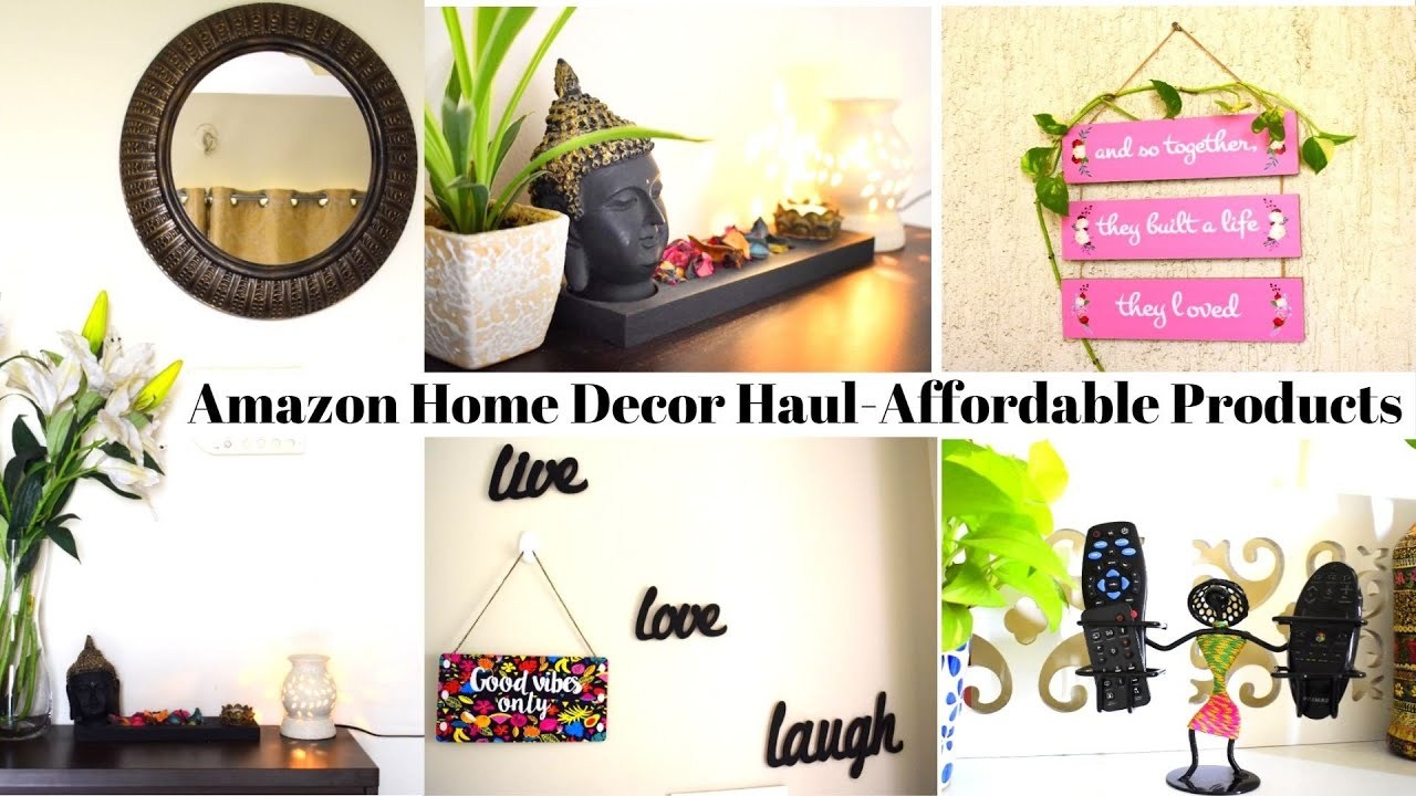 Amazon Home Decor Haul Affordable Rental Friendly Home Decor Products For Home Makeover Youtube