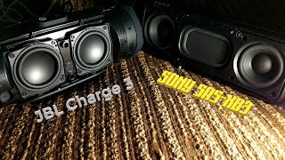 JBL Charge 3 + Sony srs-xb3 - Sound and Woofer Test