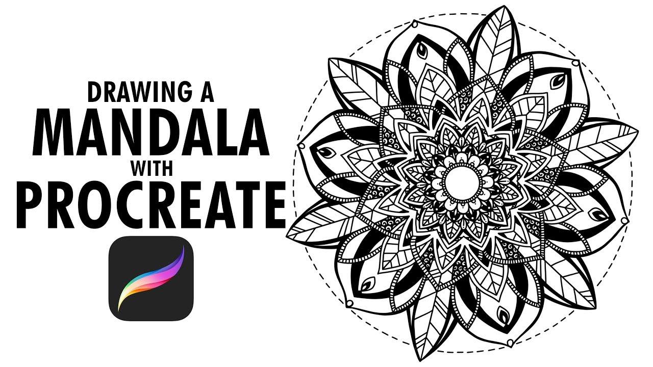 Mandala Drawing W/ Procreate | Ipad Pro + Apple Pencil - YouTube