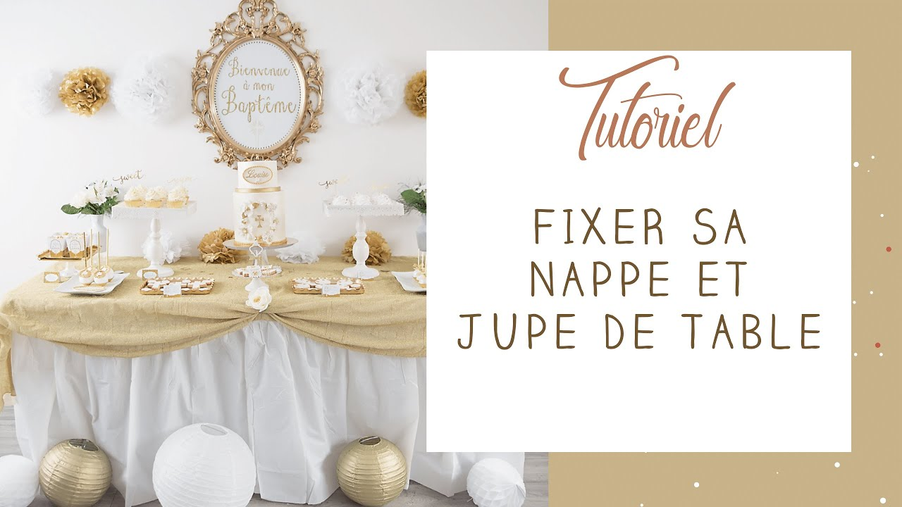 tuto comment utiliser une nappe et jupe de table en. Black Bedroom Furniture Sets. Home Design Ideas