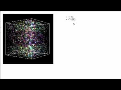 Particle System with Simple Boundary Condition (WebCL + WebGL)
