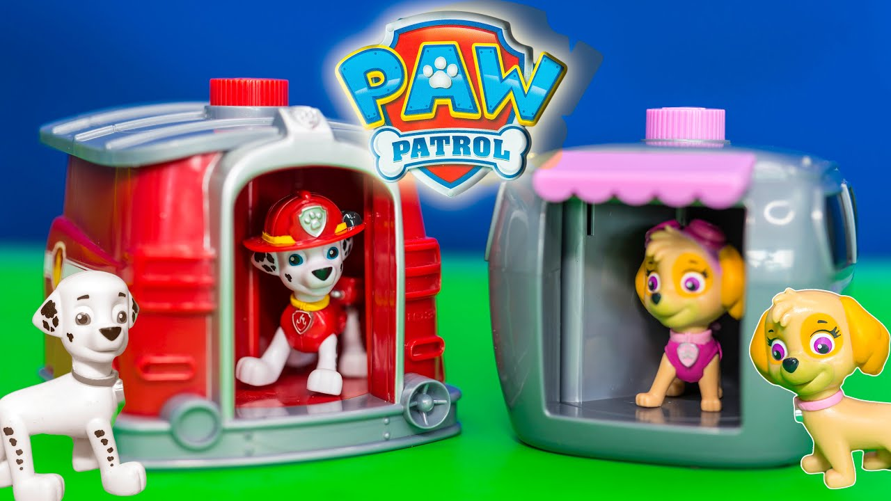 Nice Unboxing The Paw Patrol Marshall And Skye Pup To Hero Changer Toys   YouTube