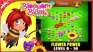 blossom blast saga level 6 to 10 new puzzle game from candy crush creator ios gameplay