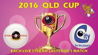 2016 Qld Cup - Women's 8 Ball Team - Brisbane v City 11:00am