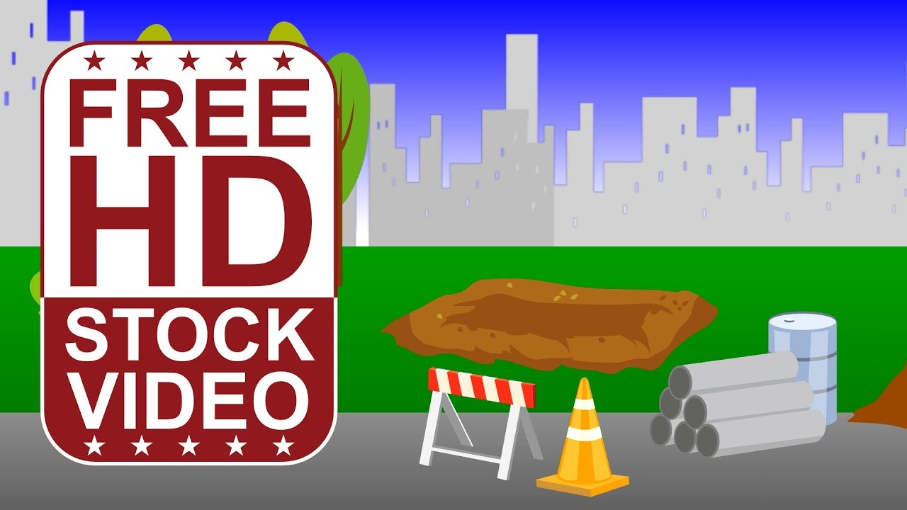 FREE HD video backgrounds – cartoon style construction ...