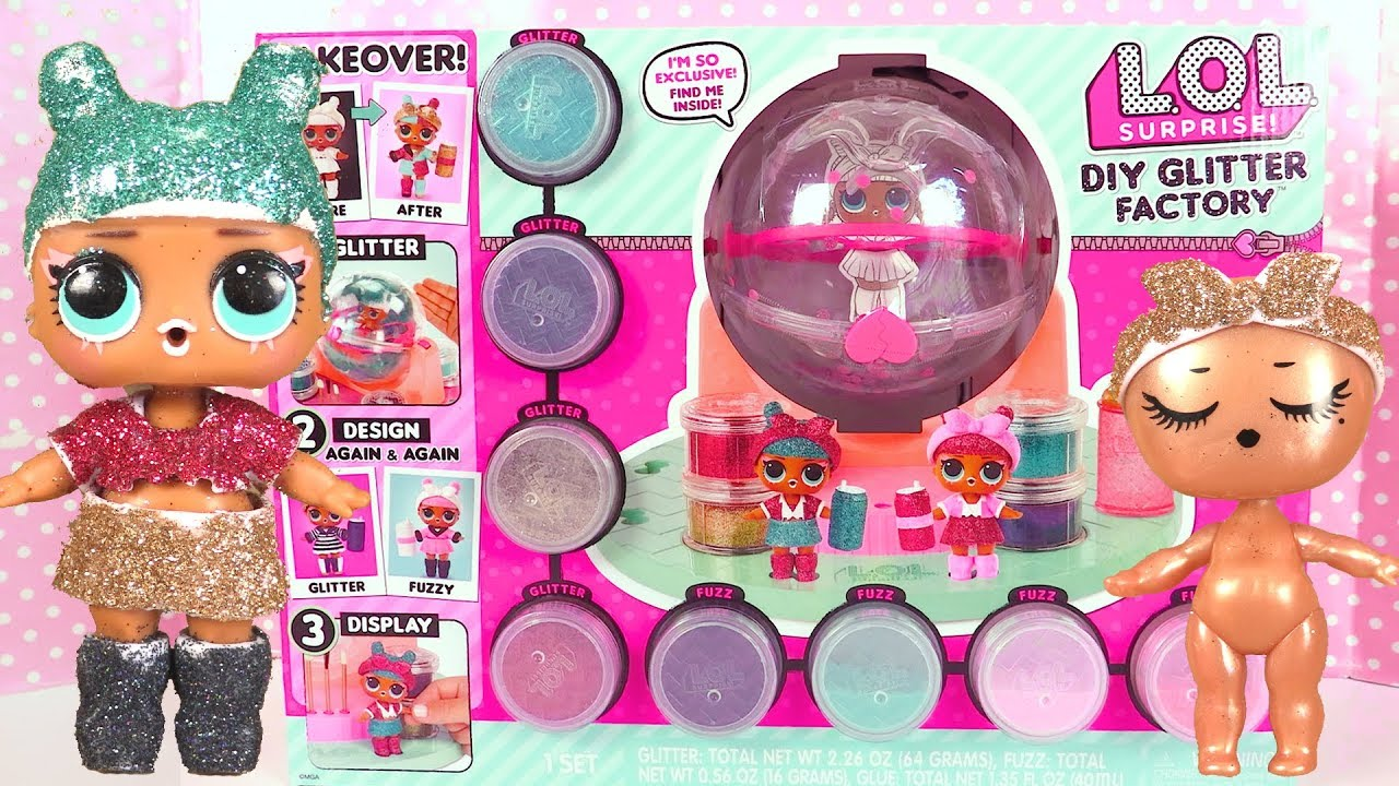video LOL surprise DIY Glitter Factory : l'usine à paillettes !
