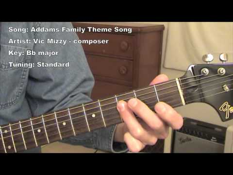 Addams Family Theme Song  Guitar Lesson