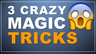 3 Crazy Magic Tricks! (one mind reading trick!)