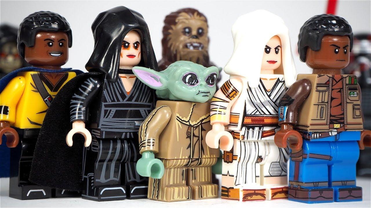 Lego Star Wars Baby Yoda Dark Rey Kylo Ren Finn Emperor Palpatine Unofficial Lego Minifigures Youtube