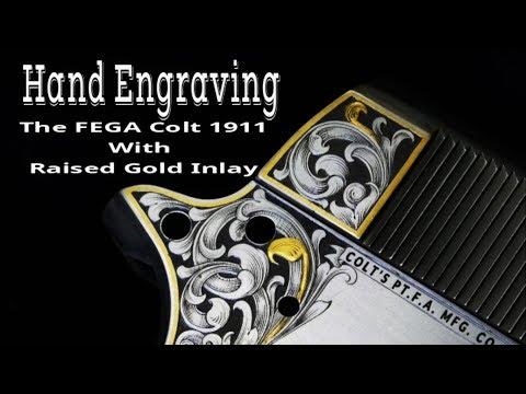 Gun Engraving -the FEGA COLT 1911 - Episode 1 Gold Inlay Technique