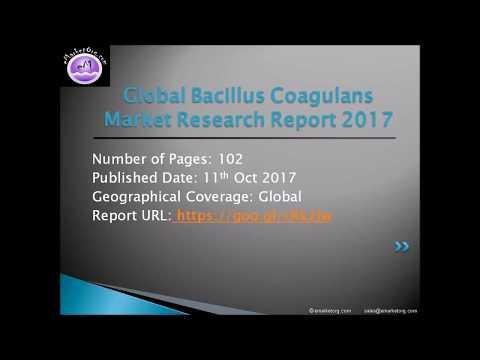 Bacillus Coagulans Market Critical Data: Top Manufacturers And Forecasts To 2022