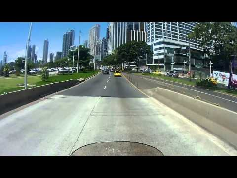 Ridding on a sunny day through Panama downtown