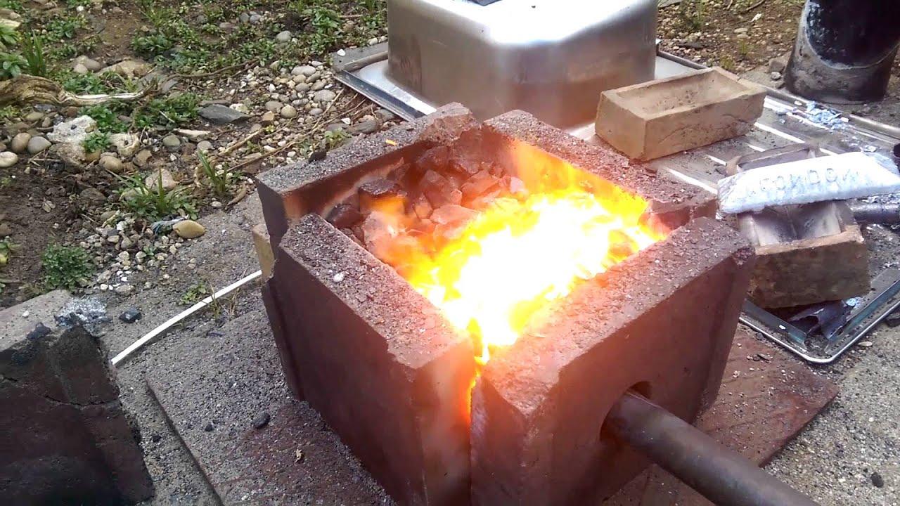 diy furnace making aluminium and copper ingots youtube