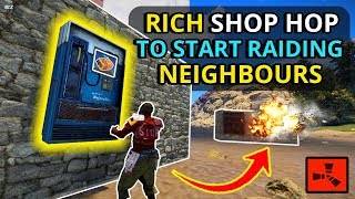 My BEST Bargain Solo SHOP HOP EVER Lets Me SOLO RAID My NEIGHBOURS!! - RUST SOLO