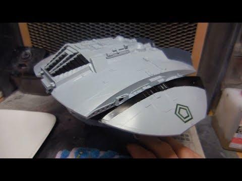 Revell Cylon Raider plamo build 6