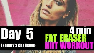 FAT BURNING HIIT WORKOUT - JUST 4 MINUTES - suitable for beginners to intermediate
