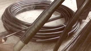 INSERTING SS NIPPLE IN HDPE WATER PIPES   Borewell HDPE Pipe with    Lock Fitting