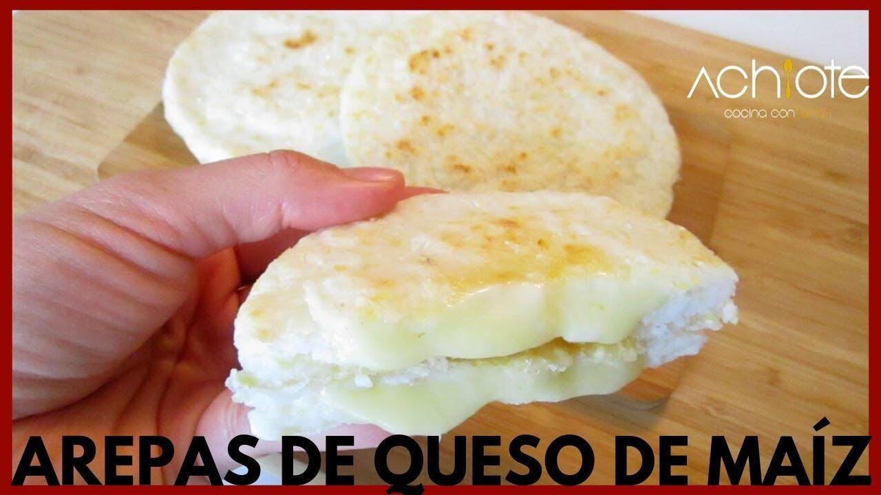 Arepas De Queso Colombianas Hechas Con Maíz Cocido Y Molido Son Espectaculares Youtube