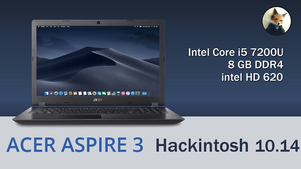 Acer Aspire V3 A315 Hackintosh Mojave / Hight Sierra intel HD 620 - Как  установить | How to install